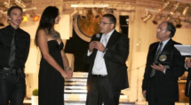 FOTO PREMIO FEDERICO II ORIA CON LUISA CORNA 2011
