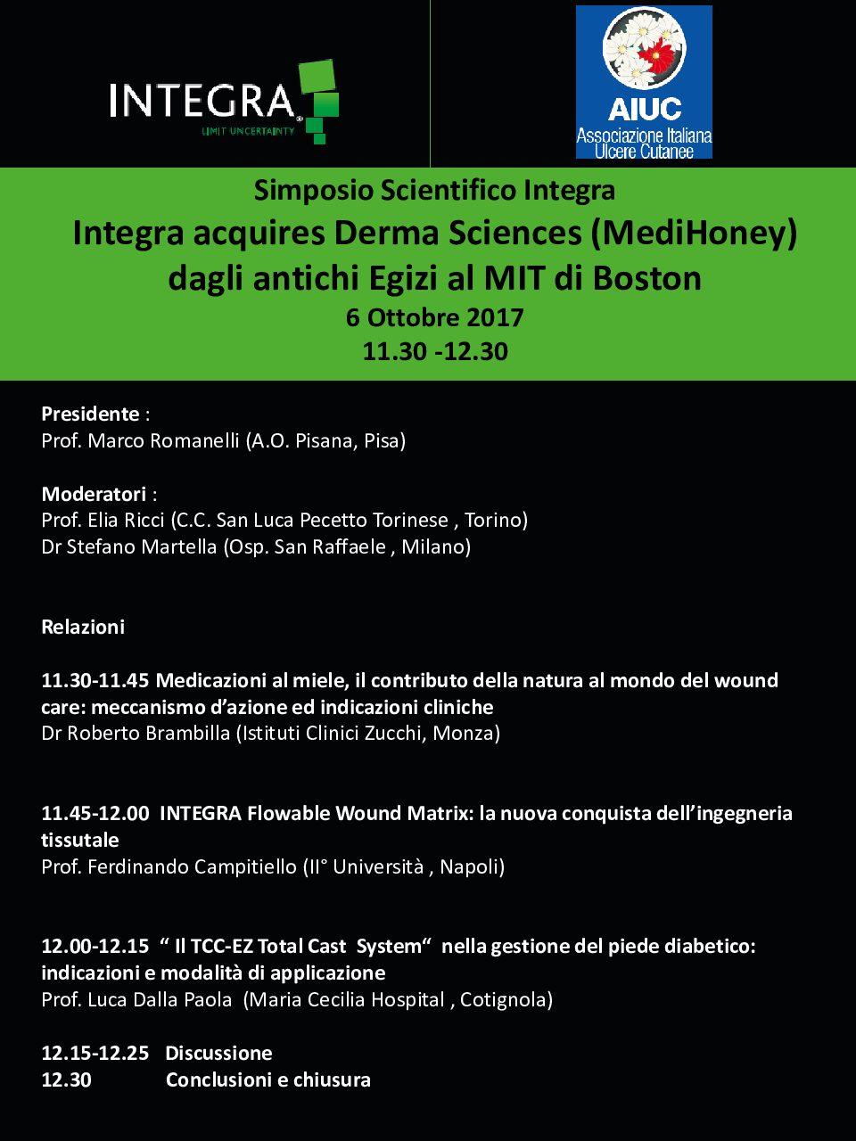 Integra Symposium AIUC torino 2017